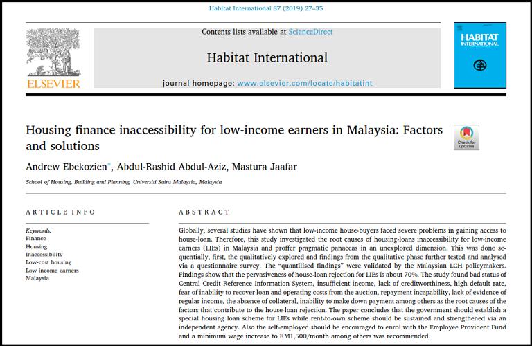 مقاله وام مسکن مالزی