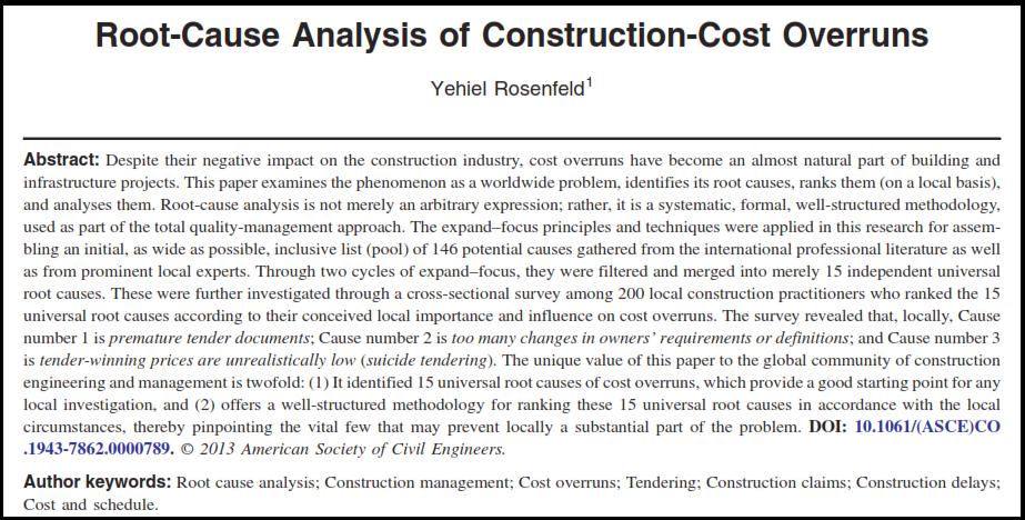 مقاله افزایش هزینه ساخت و ساز