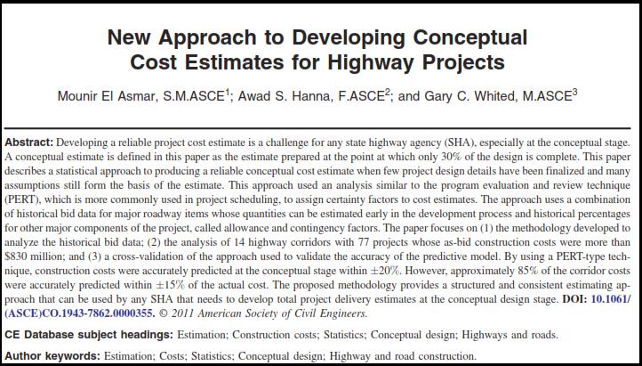 برآورد هزینه پروژه
