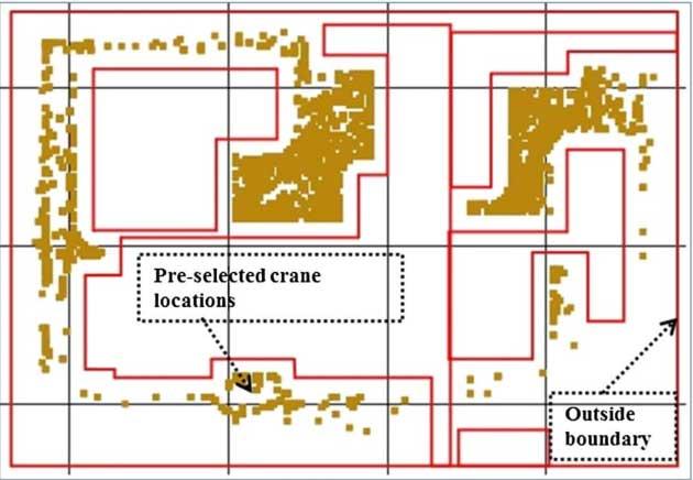 برنامه ریزی جرثقیل ها در ساختمان های پیش ساخته (جانمایی)